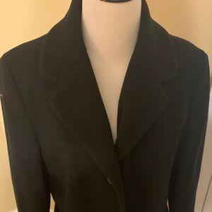 Kenneth cole reaction black wool coat winter sz 14